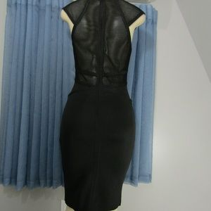 WOW COUTURE Dresses - WOW COUTURE BLK BANDAGE BODYCON DRESS